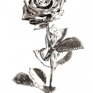 Ewige Rose (versilbert) Rosenmuseum Steinfurth e.V.