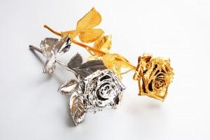 Ewige Rose (versilbert/vergoldet) Rosenmuseum Steinfurth e.V.