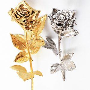 Ewige Rose (versilbert/vergoldet