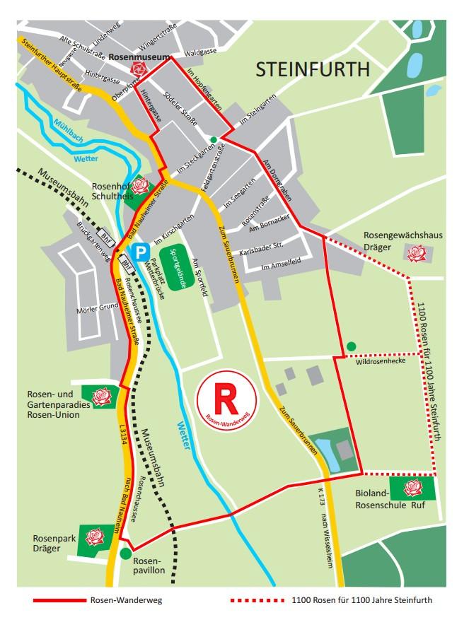 Rosenwanderweg Steinfurth/Bad Nauheim
