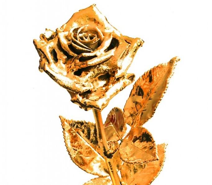 rose goldene rose 40 cm rosenmuseum. Black Bedroom Furniture Sets. Home Design Ideas